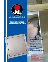 Access Panels by the JL Industries Division of the ... - Best Materials