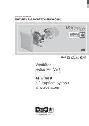 Ventilátor Helios MiniVent M 1/100 F s 2 stupňami výkonu a ...