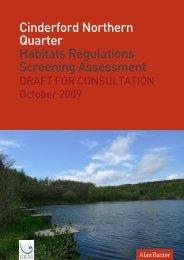 Cinderford AAP - Habitat Regulations Assessment Screening Report