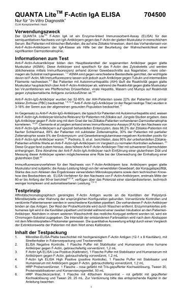 F-Actin IgA ELISA 704500 - inova