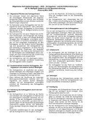 Allgemeine Vertragsbedingungen für Ingenieur - Markgraf Bau