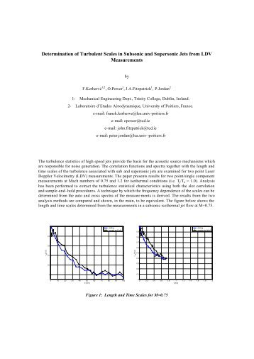 Determination of Turbulent Scales in Subsonic and Supersonic Jets ...