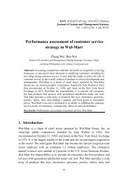 Performance Assessment of Customer Service Strategy in Wal-Mart