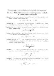 zadania do samodzielnego rozwiązania - Wydział Matematyki i ...