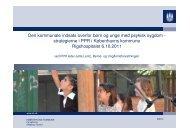 Den kommunale indsats overfor børn og unge med psykisk sygdom ...