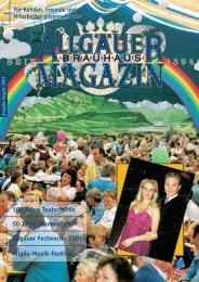 August 2001 - Allgäuer Brauhaus