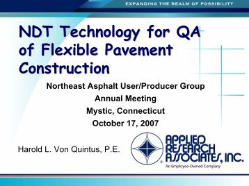 NDT Technology for QA of Flexible Pavement Construction - neaupg