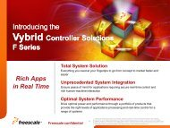 Freescale Vybrid Controller Solutions - TimeSys