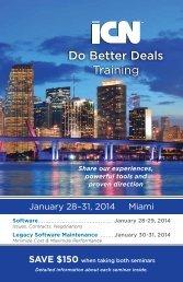 Seminar Brochure (pdf) - International Computer Negotiations Inc
