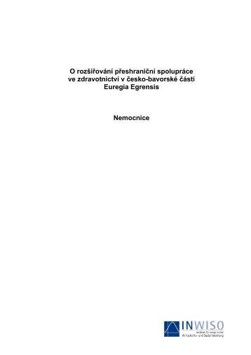 O rozšiřování přeshraniční spolupráce ve ... - Euregio Egrensis