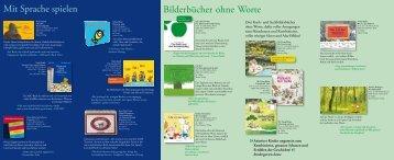Bilderbücher ohne Worte Mit Sprache spielen