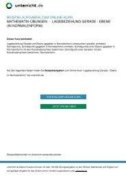 Lagebeziehung Gerade - Ebene (in Normalenform ... - unterricht.de