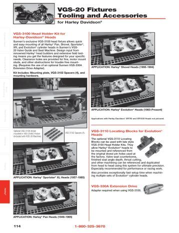 VGS-20 Fixtures Tooling and Accessories - Sunnen