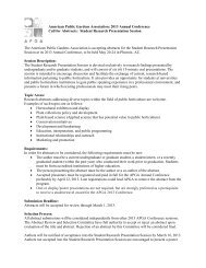 2013 Annual Conference Call for Abstracts: Student Research ...