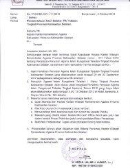 Pemberitahuan Hasil Seleksi PAI Teladan Tingkat Provinsi ...