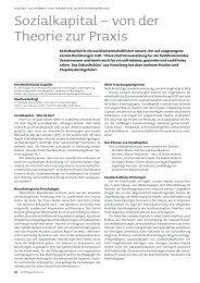 Sozialkapital – von der Theorie zur Praxis - Vorarlberg
