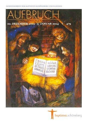 Gemeindebrief Nr. 479 vom 22. Dezember 2013 (pdf; 1,17 MB)