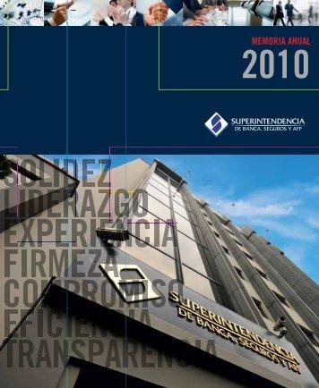 MEMORIA ANUAL - Superintendencia de Banca y Seguros
