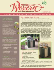 Western Disposal Summer 2009 - Western Disposal Services