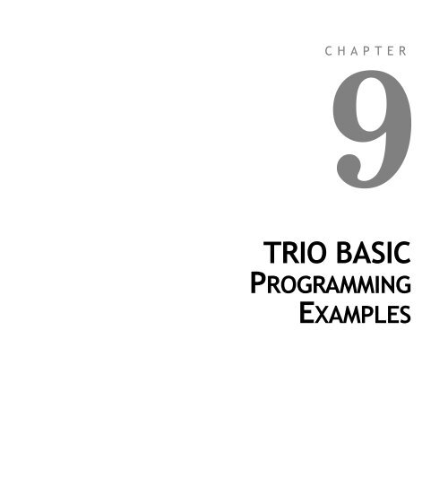 TRIO BASIC PROGRAM EXAMPLES - Alstron