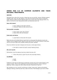denes dog az of common ailments and their natural treatments