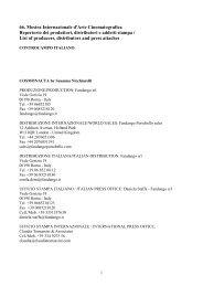 66. Mostra Internazionale d'Arte Cinematografica Repertorio dei ...