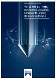 Weber Ultrasonics Produktübersicht DE - Weber Ultrasonics GmbH