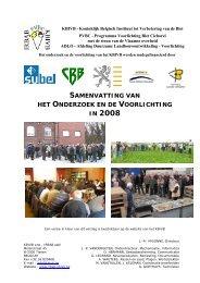 IN 2008 - Koninklijk Belgisch Instituut tot Verbetering van de Biet