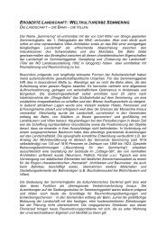Weltkulturerbe Semmeringbahn - Raumordnung und Regionalpolitik