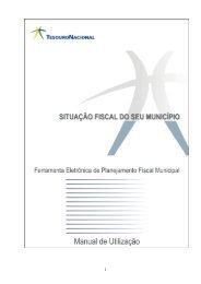 Manual de Utilização do programa Situação ... - Tesouro Nacional