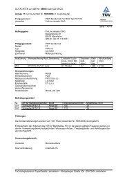 GUTACHTEN zur ABE Nr. 46503 nach §22 StVZO Anlage 17 zum ...