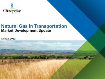 Will Freeman, Chesapeake Energy - Northern Tier Regional ...