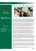 Edition 6 dEcEmbEr 2007 - Wesley College - Page 2