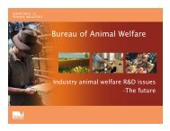 Bureau of Animal Welfare - Animal Welfare Science Centre