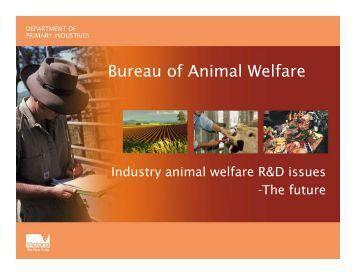 Bureau of Animal Welfare - Animal Welfare Science Centre