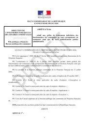 projet d'arrêté 26 - Haut-Commissariat de la république en ...