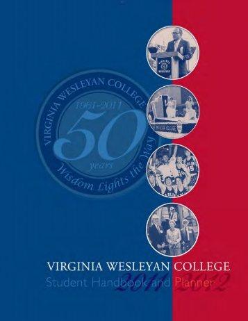 Student Handbook - Virginia Wesleyan College