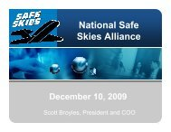 National Safe Skies Alliance