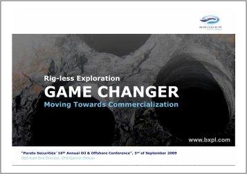 Pareto Oil & Gas Conference 2009.pptx - BXPL