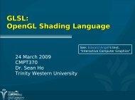 GLSL: OpenGL Shading Language