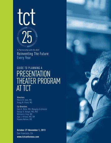 Planning a Presentation Theater Program - TCT