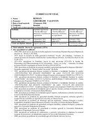 CV Roman Gheorghe.pdf - Facultatea de Agricultură