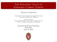 The Strategic Value of Embodied Carbon Tariffs - World Energy ...