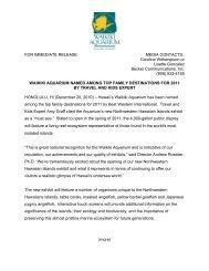 Waikiki Aquarium Named Among Top Family Destinations for 2011