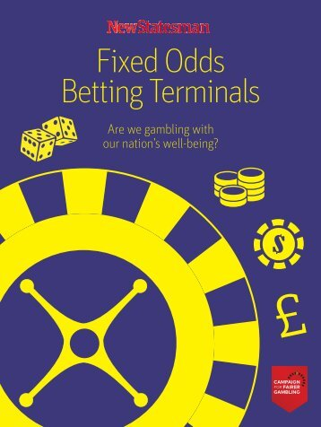 Fixed Odds Betting Terminal supplement