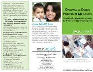 OPCIONES DE DEBIDO PROCESO DE MINNESOTA - PACER Center
