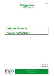 """DOSSIER TÉCNICO: """"CANAL RANURADA"""" - Schneider Electric"""