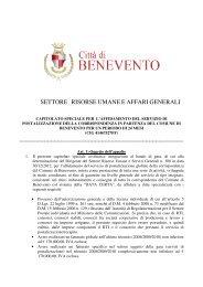 settore risorse umane e affari generali - Comune di Benevento