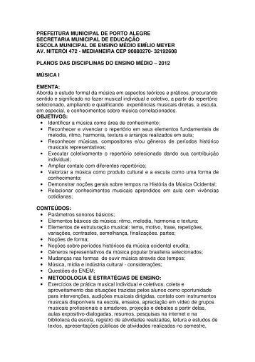PREFEITURA MUNICIPAL DE PORTO ALEGRE SECRETARIA ...