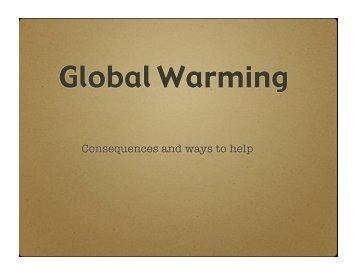 geog global warming keynote.key - The Fessenden School